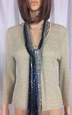 LIZ CLAIBORNE Liz Sport Women Beige Long Sleeve One Button Cardigan Sweater M