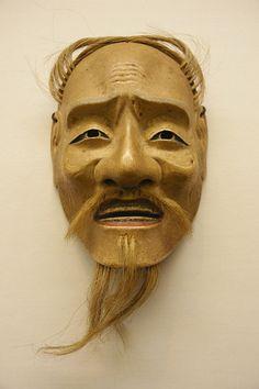 Japanese Noh wooden mask, Edo era (18 century)