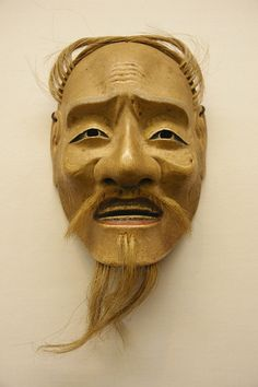 Japanese Noh wooden mask, Edo era (18 century)