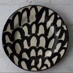 ceramic plate decorated .....one of a kind!!! xxx