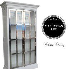 Manhattan Lux Cabinet (Hvit og Stål) fra Classic Living