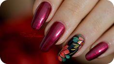 Nail art de Noël : fleur poinsettia zhostovo niv. 3 | Tartofraises