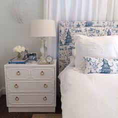 Luxe Report Designs Guest Bedroom -- blue & white:  timeless & fresh