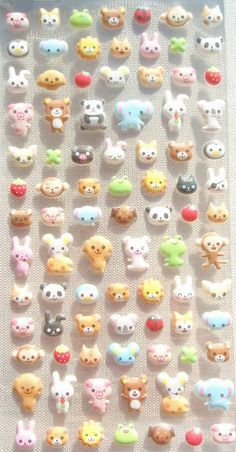 ★ a pack of 88 little puffy animal stickers !