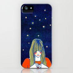 Girls in blue iPhone & iPod Case by Hajin  Bae - $35.00