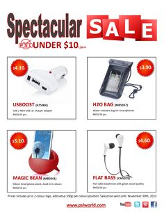 Take advantage of this great deal on 4 of our best products under $10. Sale on now through November 30th, 2013  www.pslworld.com Charger Adapter, 30th, November, Smartphone, Usb, Products, November Born, Beauty Products