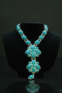 Vintage Chanel Turquoise Gripoix Necklace