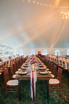 Oatlands Historic House & Gardens- Outdoor  October tented wedding; farm tables;ribbon and lace runner; DIY ideas; Rebekah J. Murray Photography