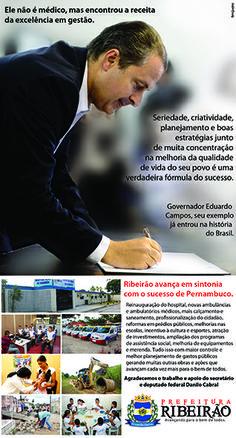 Homenagem ao Ex Governador Eduardo Campos.  Cliente: Prefeitura de Ribeirão
