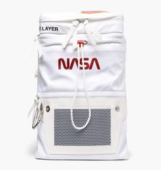 Heron Preston White And Orange Nasa Print Backpack - Farfetch Xmas Gifts For Her, Special Gifts For Her, Christmas Gifts For Men, Family Christmas, Handbags On Sale, Luxury Handbags, How To Wear Sneakers, Sneakers Women, Backpack Bags