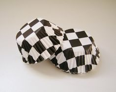 Checkered Flag Cupcake Liners  Baking Cups  by GooseysSupplyNest, $3.40