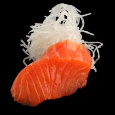 Salmon Sasimi at Sushi Counter - 7 dhs (1 piece) - call for delivery in Dubai.