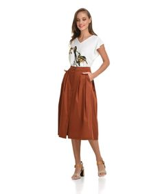 Φούστα Μίντι Μεσάτη   Vaya Fashion Boutique Midi Skirt, Spring Summer, Women's Skirts, Pants, Vintage, Collection, Style, Fashion, Trouser Pants