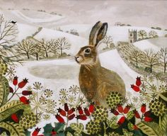 Vanessa BOWMAN-Seated Hare in the Snow