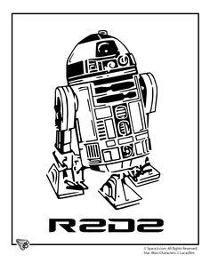 Star Wars Coloring Pages star-wars-coloring-r2d2 – Cartoon Jr.