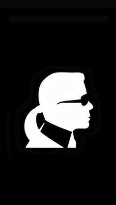 Pitch Black Wallpaper Iphone X Wie Gemalt Karl Lagerfeld Pinterest Karl Lagerfeld