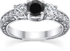 Black Diamond Engagement Rings: Luxury and Mystery on a Budget | ApplesofGold.com