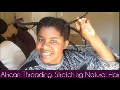 This is how I thread my hair in order to stretch it as much as possible for ease of styling. Manditungamira Avaialbe on iTune. African Threading, Hair Threading, Stretching, Natural Hair Styles, Videos, Nature, Youtube, Naturaleza, Stretching Exercises