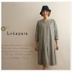 【Lokapala ロカパラ/ローカパーラ】ギンガム チェック ワンピース (lp150710)