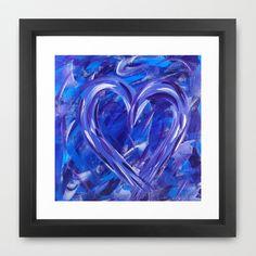Purple Heart Framed Art Print by HeartsandKeys - $31.00