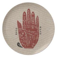 Jitaku Palm Linen Melamine Plate - kitchen gifts diy ideas decor special unique individual customized