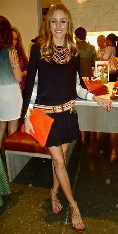 Olivia Palermo does boho belt