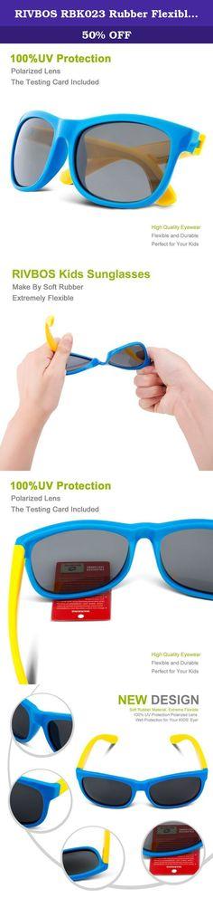 1bd12dcfc9f RIVBOS RBK023 Rubber Flexible Kids Polarized Sunglasses Glasses Age 3-10  (Blue).