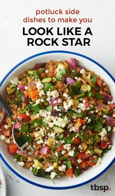 30 Potluck Side Dishes That Make You Look Like a Rockstar Be the rock star friend who brings amazing sides like chipotle creamed corn on the grill, slow-cooker cheesy scalloped potatoes, and bacon-wrapped asparagus to the potluck. Potluck Side Dishes, Potluck Recipes, Side Dish Recipes, Casserole Recipes, Salad Recipes, Main Dishes, Dinner Recipes, Cooking Recipes, Healthy Recipes