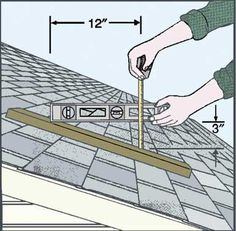 Roof pitch is easy to measure and can affect the health and life of your roof. Learn when low pitch or high roof pitch are appropriate, how to measure it and what the factors are in deciding what roof pitch is right for your home. Civil Engineering Construction, New Construction, Roofing Estimate, Las Vegas Valley, Porch Roof, Roof Plan, Flat Roof, The Prestige, Roof Pitch