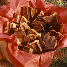 Chocolate-Topped Toffee. Make some for the family, but be sure to save some for yourself!