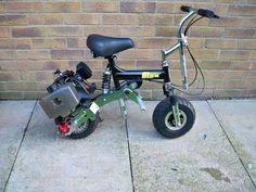 Gas Powered Scooters, Motor Scooters, Trike Bicycle, Moped Scooter, Custom Mini Bike, Custom Bikes, Build A Go Kart, Power Bike, Drift Trike
