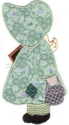 Ideas sewing machine embroidery patterns sunbonnet sue for 2019 Quilt Block Patterns, Applique Patterns, Applique Quilts, Applique Designs, Embroidery Applique, Sewing Patterns, Quilt Blocks, Sunbonnet Sue, Sewing Machine Embroidery
