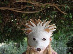 Hedgehog mask.  Easy DIY.  How cute!