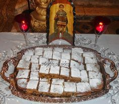 Feast Day of Agios Fanourios, with recipe for Fanouropita - Greek City Times Greek Sweets, Greek Desserts, Greek Recipes, Sweets Recipes, Cake Recipes, Food Network Recipes, Food Processor Recipes, Greek Cake, Easter Cookies
