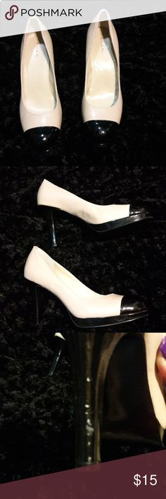 Tahari Leather Heels 8 1/2! Great condition small scuff on the heels see pictures. 3 inch heels leather no other marks or scuffs! Tahari Shoes Heels