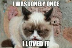I was lonely once. I loved it.