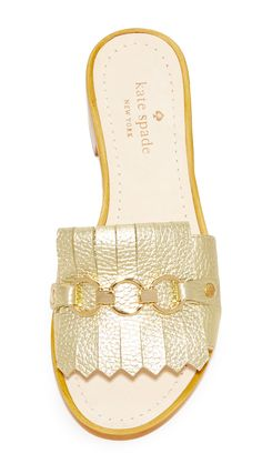 8852f86d828a01 Pebbled metallic Kate Spade New York sandals