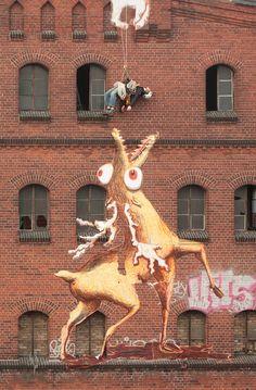 Mystical Paper Beasts Devour Unsuspecting Street Artists