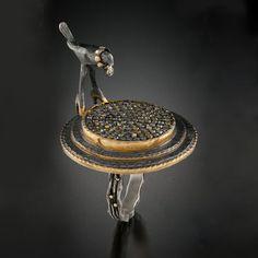Беззаботные вороны: ювелирная скульптура в украшениях Ann Marie Cianciolo - Ярмарка Мастеров - ручная работа, handmade