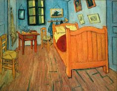 Vincent van Goghs bed as he painted it in 1888