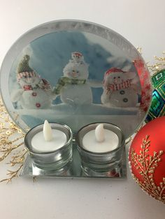 Christmas Double Candle Holder with Snowman Design and Free LED Candles    Candle Holder Dimensions: 16cm X 6cm X 14cm.  Candle Dimensions: 5cm wide and 2.5cm high  2 x Free coloured LED Candles included  1 x White Box    Only $25.00 plus Shipping World Wide   Shop this product here: http://spreesy.com/itstartedwithagift/34   Shop all of our products at http://spreesy.com/itstartedwithagift      Pinterest selling powered by Spreesy.com