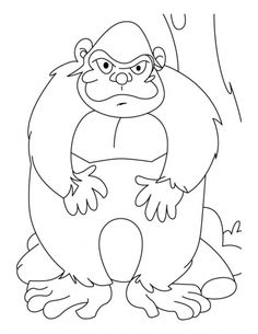 The Most Senior Ape Coloring Pages