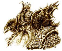Odin, Hugin and Munin by vikingmyke.deviantart.com on @deviantART