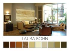 A cool grey and beige colour palette inspired by Laura Bohn - Design Colour Palettes © Zena O'Connor