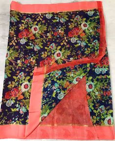 online womens traditional sarees Floral Print Sarees, Printed Sarees, Floral Prints, Elegant Fashion Wear, Trendy Fashion, Bacon Wrapped Chicken Tenders, Kota Silk Saree, Designer Silk Sarees, Traditional Sarees