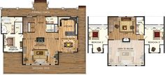 Copper Creek II Floor Plan. I would put and island in the kitchen instead of a peninsula.