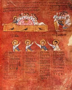 Son Akşam Yemeği. Calabria-Arte e Cultura-Codex Purpureus Rossanensis-Tav.5