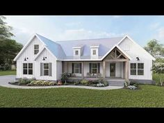 Barn House Plans, New House Plans, Small House Plans, Affordable House Plans, Modern Farmhouse Plans, Future House, Building A House, House Design, Square Feet