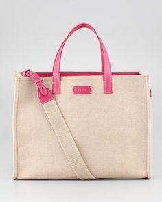 My Feb Fav Bag Simply Shopping Canvas Tote Bag by Fendi at Bergdorf Goodman.