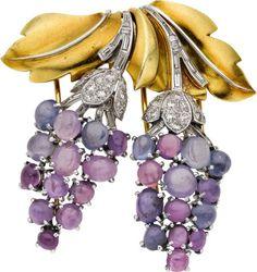 Star Sapphire, Diamond, Platinum, Gold | Lot #58171 | Heritage Auctions